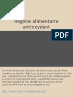 Régime alimentaire antioxydant