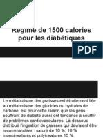 Régime de 1500 calories pour les diabétiques