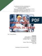Trabajo Admon y Control de Obras