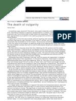 Vulgarity by Santosh Desai