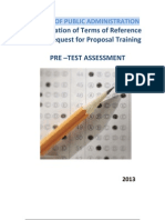 TOR & RFP Pre - Test Only