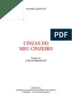 CINZAS DO MEU CINZEIRO (Manoel Quintão)