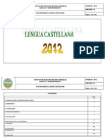 Programacion Lengua Castellana
