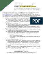 EPSY 485 Assignment Description