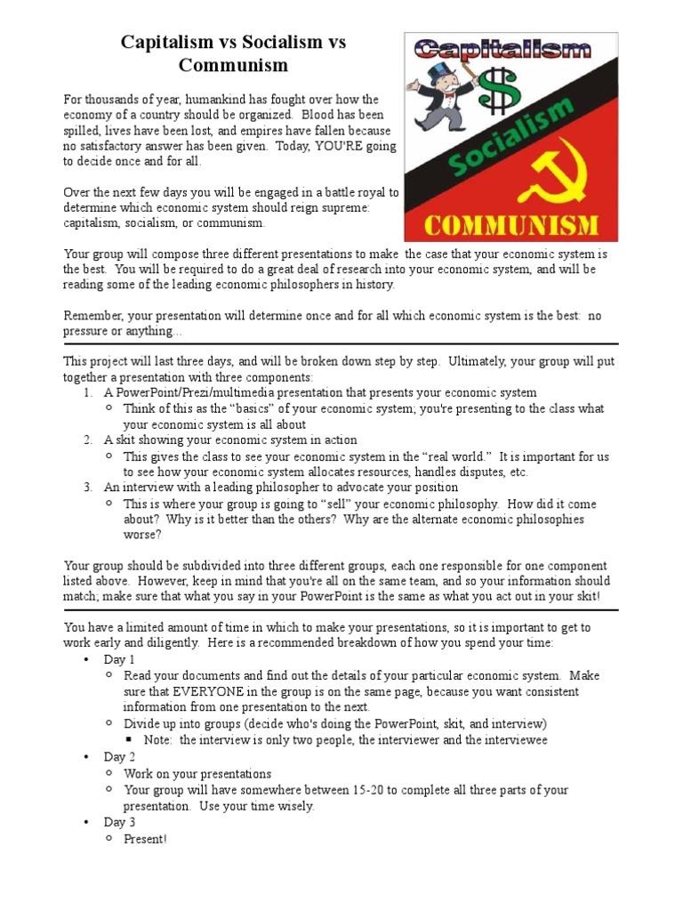 Communism Vs Capitalism Worksheet: capitalism munism socialism debate capitalism munism,
