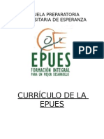 Evaluación Curricular de La EPUES