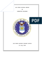 AIR FORCE HISTORY REPORT            ON    OPERATION TAILWIND