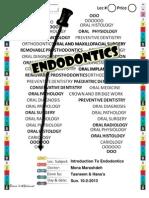 Lec 1 Introduction to Endodontics