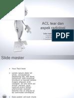 ACL Tear Dan Aspek Radiologi