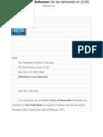 Schumer Drop-Off/Meeting Packet