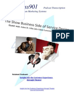 Show Business in Service Design
