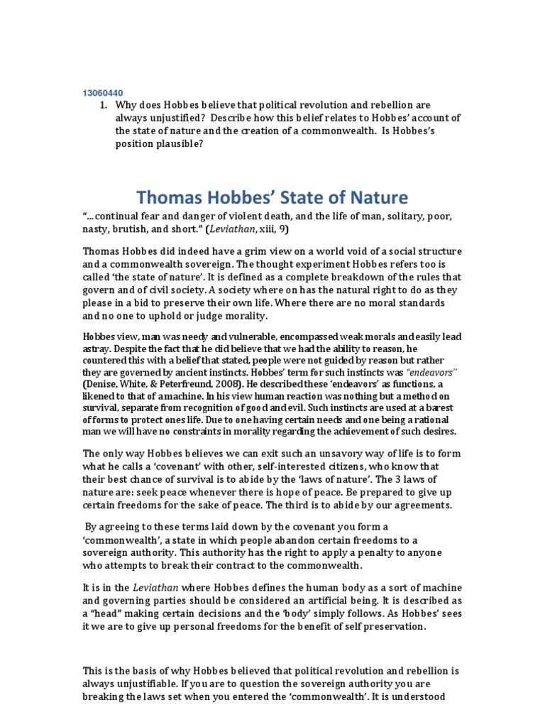 thomas hobbes personal life