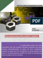 Manufacturing information sysytem