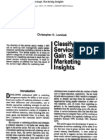 Classifying Services to Gain Marketing Insights Lovelock
