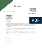 Job Follow Up Letter