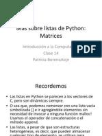 Mas Sobre Listas de Python-Matrices