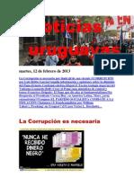 Noticias Uruguayas Martes 12 de Febrero Del 2013