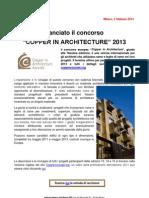 Copper in Architecture 2013