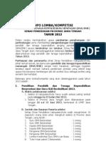 Info Lomba dari Dinas Pendidikan Prov. Jateng