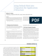 Cohen, Ruben D. - Incorporating Default Riskinto Hamada's Equation for Application to Capital Structure