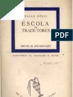 Paulo Ronai Escola de Tradutores