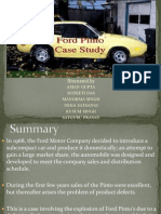 the ford Pinto case study
