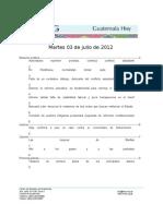 Guatemala Hoy 2012-07-03