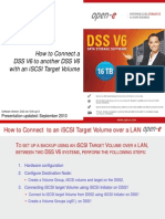 How to Connect to DSS V6 to another DSS V6 with an iSCSI Target Volume