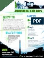 Washington DC student tours 3-day