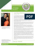 Juan Miguel Mendoza and Andrea Viso New Chairman Club members