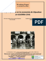 El franquismo en la economía de Gipuzkoa. LA GUERRA CIVIL (Es) The Franco regime in the economy of Gipuzkoa. THE CIVIL WAR (Es) Frankismoa Gipuzkoako ekonomian. GERRA ZIBILA (Es)