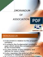 Memorandum, Articles & Prospectus