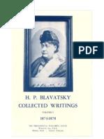 02. H.P. Blavatsky - Collected Writings - VOLUME I (1874-1878)