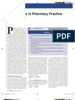 Calculations in Pharmacy Practice