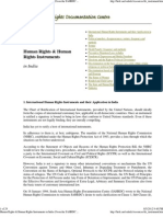 Human Rights & Human Rights Instruments in India (From the SAHRDC Resource Centre)