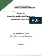 Project Management Continuous Improvement - 2 Nov 10