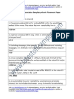 Manhattan Associates Sample Aptitude Placement Paper Level1