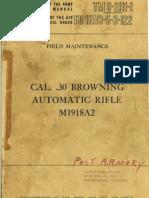 Field Maintenance Manual BAR M1918A2 (English, 1957)