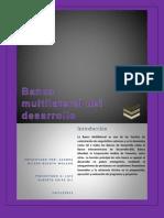 Ensayo Banca Multilateral de Desarrollo