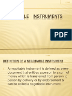 Nagotiable Instruments