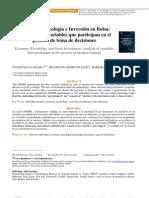Economía, Psicología e Inversión en Bolsa_análisis de las variables que participan en el proceso de toma de decisiones