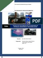 Petroleo, Persistencia y Bioacumulacion