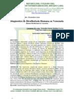 Diagnostico de Dirofilariasis Humana en Venezuela