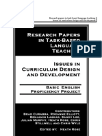Research Papers in TaskBased Language Teaching