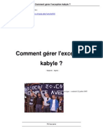Comment Gerer l Exception Kabyle