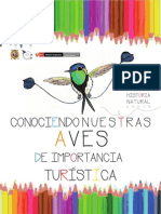 Libro colorear-Conociendo Nuestras Aves de importancia Turística
