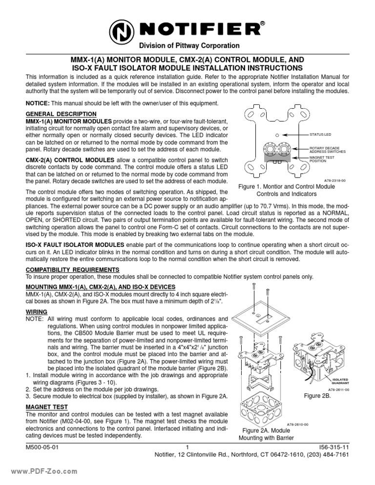 Notifier CMX-2 Addressable Control Module FREE SHIPPING !!!