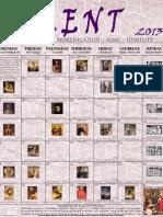 2013 Lenten Calendar - Old Purple Print