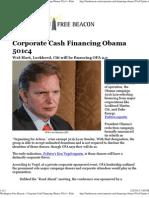 Corporate Cash Financing Obama 501c4