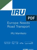IRU Manifesto to the EU – Europe needs road transport